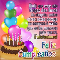 happy birthday cakes and balloons images Spanish Birthday Wishes, Free Birthday Wishes, Happy Birthday Ecard, Wish You Happy Birthday, Birthday Cards For Son, Son Birthday Quotes, Happy Birthday Wishes Quotes, Happy Birthday Celebration, Happy Birthday Pictures