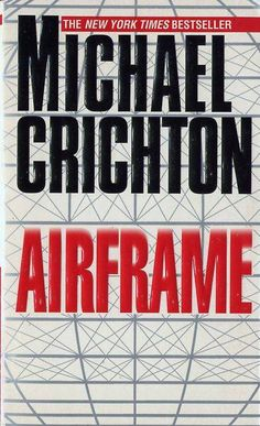 [Airframe by Michael Crichton] I had a colleague looking for a good sci-fi book to read on a long plane journey, and he'd never heard of Crichton! Alas, this one isn't sci-fi but I rediscovered it when going through my box of Crichton books. This is my absolute favourite Crichton and will recommend it to anyone.