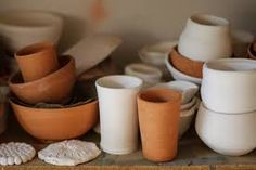 Ceramics: made from molten rocks at high temperature. Used for dishes, sinks, tubs, tiles... Example: porcelain, glass...