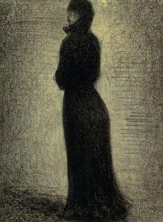 La Dame en noir - Georges Seurat