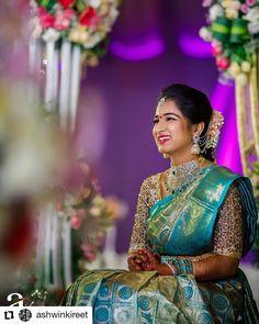 Latest Bridal Saree Designs are Pastel Shades of Kanjeevaram Bridal saree collection. Peach shade sarees, Lilac bridal sarees, Purple kanchipuram sarees, Turquoise Sarees, Mint shade saree designs and many more collection in handloom sarees South Indian Wedding Saree, Indian Bridal Sarees, Wedding Silk Saree, Indian Bridal Fashion, South Indian Bride, Indian Wedding Outfits, Indian Groom, Punjabi Wedding, Indian Weddings