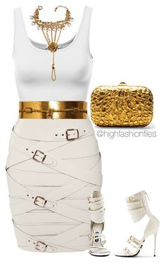 """""""Golddddd"""" by highfashionfiles ❤ liked on Polyvore featuring Marina Hoermanseder, Gucci, Tom Ford and Christian Dior"""