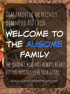 Surviving the Initial Autism Diagnosis: an open letter to the new parent(s) of a child on the autism spectrum. From a mom that's been there before- welcome to the ausome family.