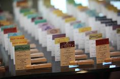 Fast Passes for Table Assignments.  Not sure I'd wanna go this full-on Disney, but I don't want to forget this idea, just in case...