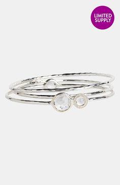 Ippolita 'Silver Diamond - Lollipop' Stone & Diamond Bangles (Set of 3) (Nordstrom Exclusive) available at #Nordstrom