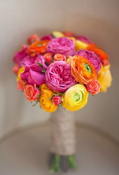 Use flowers to add a splash of colour