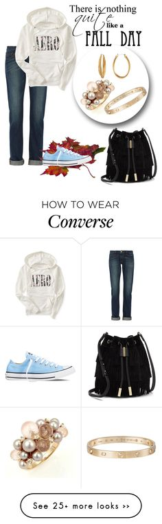 """Untitled #859"" by swc0509 on Polyvore featuring Frame Denim, Converse, Aéropostale, Vince Camuto, Diane Von Furstenberg, Mimí and Cartier"