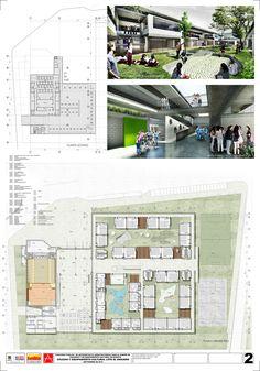 Primer Lugar Concurso para el Diseño de Colegios y un Equipamiento Cultural – Teatro, en Bogotá / Colombia,Lámina 02. Image Courtesy of Carlos Andrés García y Eduardo Mejía