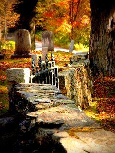 Autumn Stone Wall, New Hampshire