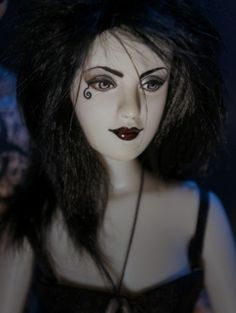 Neil Gaiman's Eternal Death from Sandman: Repaint by Flutterwing Designs @Shannon Craven #dollchat