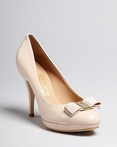 Salvatore Ferragamo Pumps - Tina Bow High Heel Platform | Bloomingdale's