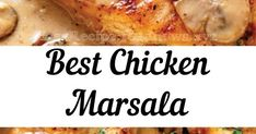 Chicken Marsala is an Italian-American dish of golden pan-fried chicken cutlets and mushrooms in a rich Marsala wine sauce. Fried Chicken Cutlets, Pan Fried Chicken, Chicken Meals, Whole Chicken Recipes Oven, Easy Dinner Recipes, Easy Meals, Oven Pan, Marsala Wine, American Dishes