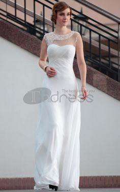 Party Dresses For Women-Hot Sale Lace Floor Length Sexy White Semi Formal Party Dresses For Women