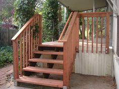 Installing an outdoor railing on the steps of your home or business does not need to be complicated or expensive. Simple Rail handrail kits make it easy to install handrail on outdoor stairs.