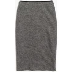 MADEWELL Pillar Midi Skirt ($78) ❤ liked on Polyvore featuring skirts, hthr grey, knee length pencil skirt, grey pencil skirt, mid calf pencil skirt, short long skirts and long skirts