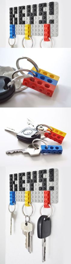 Lego key ring -- Bryan would be so in love with this