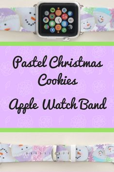 Shop Popular Pastel Christmas Cookie Yoga Health Apple Watch Band created by MiniBrothers. Apple Watch Bands Mens, Apple Watch Bands Fashion, Best Apple Watch, Apple Watch Faces, Apple Watch Series 1, Apple Fitness, Best Mothers Day Gifts, New Ipad Pro, Pretty Pastel
