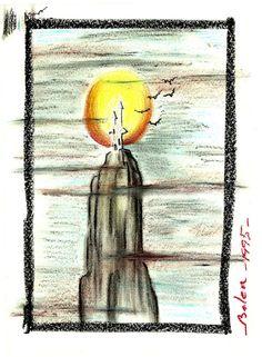 Castillo tenebroso. Dibujado con ceras Painting, Art, Crayons, Nativity Scenes, Castles, Sketches, Pintura, Drawings, Art Background