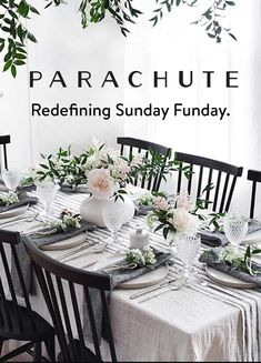 Decorate Your Table With Italian Linen From Parachute Vietnamese Food Acesse Nosso Site Muito Mais