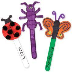 "Dig Into Reading Summer Reading Program 2013 | Use an AccuCut die to make ""bug sticks"". Kids can decorate them with markers, wiggle eyes, pom poms and other craft materials."