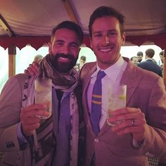 On-screen rivals Luca Calvani and Armie Hammer looking especially dapper at director Guy Ritchie's wedding this past weekend. | Photo credit: Monet Mazur