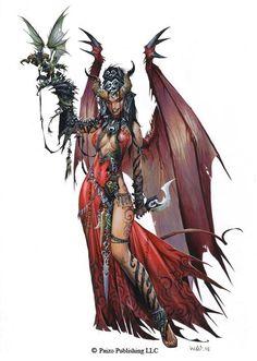 Areelu Vorlesh - Queen of the Succubi by Wayne Reynolds