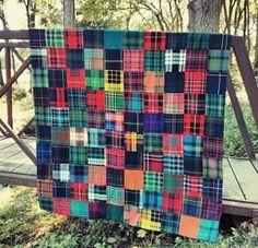 Authentic Scottish Tartan Patchwork Quilt (Buchanan)