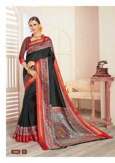 Vasundra Pattu Fabric- cotton Blouse-ranning Best quality Original Siddharth catlog ...
