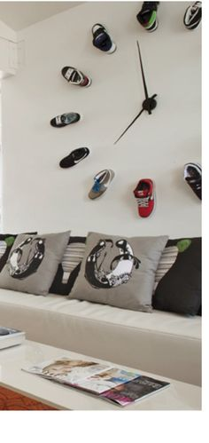 commercial design - sneaker clock. dope.