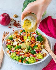 This Broccoli + Crisp Apple Salad is a Crazy Delicious Combo! - Clean Food Crush