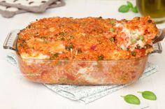 Mess of baked rice - Pasticcio di riso al forno - Ricetta golosa e gustosa Risotto, Baked Rice, Good Food, Yummy Food, Pasta Casserole, Italian Recipes, Food Videos, Macaroni And Cheese, Quinoa