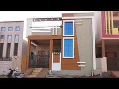 30 × 40 north face house walkthrough with plan House Balcony Design, House Outside Design, Village House Design, House Front Design, Village Houses, Door Design, Bedroom False Ceiling Design, House Elevation, House Painting