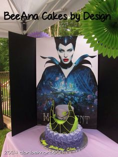 Maleficent 45th Bday Cake done by: facebook: BeeAna Cake by Designs. Beautiful and Delicious!