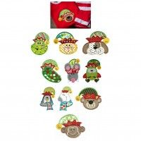 Santas Critters Christmas Animals Applique Machine Embroidery Designs | Designs by JuJu
