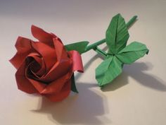 How to diy pretty origami rose origami origami paper and craft long stem rose origami mightylinksfo