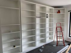 How a Little Idea Became a Little Library Ikea Billy Bookcase Hack, Wall Bookshelves, Wall Shelves, Liatorp, Home Library Design, Little Library, 7 Months, Cabinet Makers, Strip Lighting