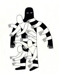 Bold Black and White Illustrations by Sit Haiiro — Designspiration
