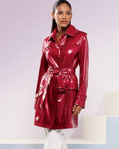 3020 | betrenchcoated | Flickr Red Raincoat, Vinyl Raincoat, Raincoat Jacket, Burberry, Leather Jacket Outfits, Leather Jackets, Vinyl Clothing, Langer Mantel, Dressing Rooms