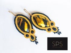 """Suzy Palhazy Soutache Jewelry on Instagram: """"This time I have brought you a not so subtle piece with bright yellow and striking black! Sure you will be noticed anytime while wearing…"""" Soutache Earrings, Bright Yellow, Suzy, Everyday Look, Brighton, Bring It On, Handmade, How To Wear, Accessories"""