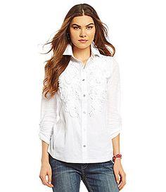 Reba ButtonFront Shirt #Dillards