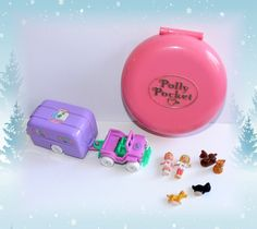 Vintage Polly Pocket 1996 Pet Surgery on the Go & 1989 Buttons Animal Hospital by GrandmaGertsCorner on Etsy