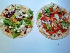 Două variante de lipie umplută Bruschetta, Vegetable Pizza, Smoothie, Vegetables, Ethnic Recipes, Salads, Smoothies, Vegetable Recipes, Veggies