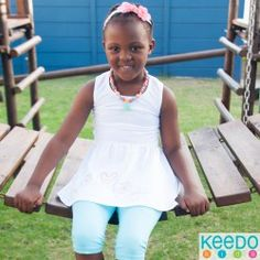 Keedo, a trusted and proudly South African brand, blends imagination, comfort and style to create functional and fashionable designer clothes for kids worldwide. Two Girls, Spring Collection, Pretty Flowers, Summer 2015, Baby Kids, Kids Outfits, Two By Two, African, Stuff To Buy
