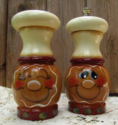 Gingerbread Wood Salt and Pepper Shakers by PaintingByEileen, $15.00