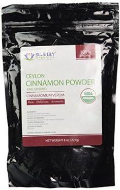 Blue Lily Organics Ceylon Cinnamon Powder - 1 Pack (8 Oz) - Certified Organic