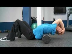 How to Fix Upper Back and Neck Pain with a Foam Roll - YouTube