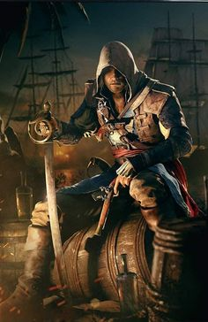 ads ads Edward Kenway – After Battle. Hugo Deschamps's Art for the Game Assassin's Creed IV: Black Flag ads Assassins Creed Rogue, Assassins Creed Cosplay, Assasin Creed Unity, The Assassin, Assassins Creed Black Flag, Asesins Creed, All Assassin's Creed, Assassin's Creed Edward Kenway, Ronin Samurai