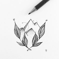 Floral mountains #illustrator #illustration #design #sketch #drawing #draw…