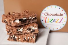 """Oreo Bark - It doesn't get any better than this! Milk chocolate, white chocolate and Oreos are combined in this """"over the top chocolaty goodness"""" treat! One pound of this crunchy and creamy is available in a beautiful gift box tied with a coordinating ribbon. www.chocolatepizazz.com"""