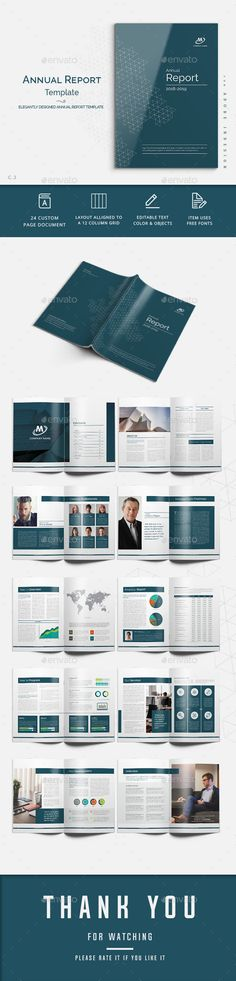 #Annual Report - #Corporate #Brochures Download here:  https://graphicriver.net/item/annual-report/20308251?ref=alena994